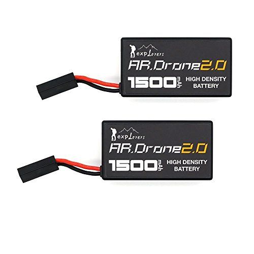 Upow 2 PCS Upgrade Lithium-Polymer Replacement Battery for Parrot AR.Drone 2.0 (1500mAh) - http://dronescenter.net/upow-2-pcs-upgrade-lithium-polymer-replacement-battery-parrot-ar-drone-2-0-1500mah/