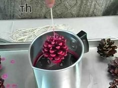 This video demonstrates how to make pine cone fire starters (great as holiday gifts) with candle making supplies such as paraffin wax, wicks, fragrance oils, candle dyes and pine cones. Happy Holidays from all of us at Peak!. How, Art, Star, #basketofcandles #howtomakeweddingcandles