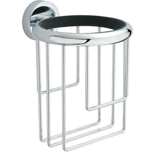 """BA Tecno Hair Dryer Holder 3.7"""", Blow Dryer Organizer - Brass"""