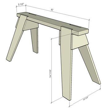 Delightful Build Plans #3: Ae19caa62bb5b675847085832f66bcf9--sawhorse-plans-diy-woodworking.jpg