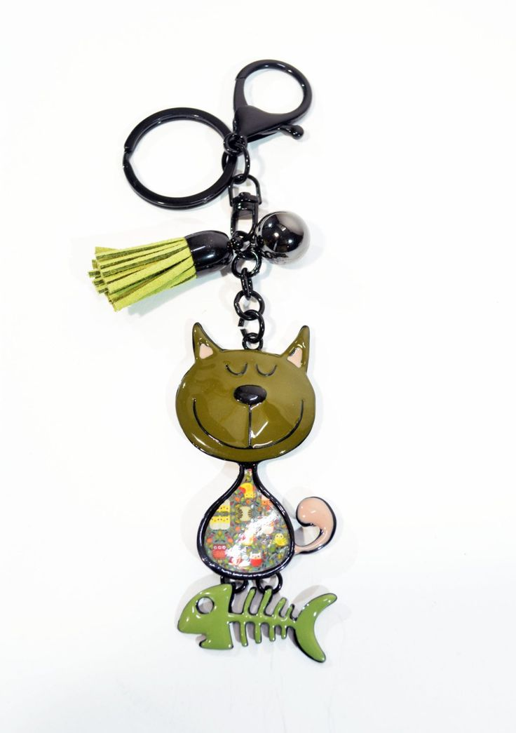 Cat Key Chain Metal KeyRing Lacquered Metal Key Ring Metal Bag Decoration Gift for Best Friends Mother's Gift Portachiavi Gatto