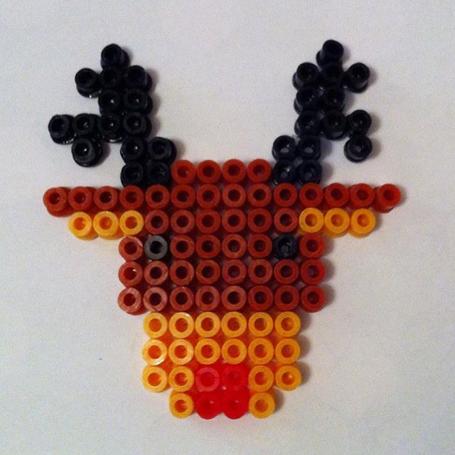 Rudolph Christmas hama beads by quotidianimages