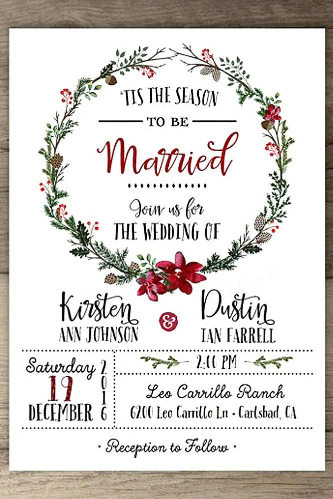 Early December Wedding Ideas 86 When Do Invites Go Out