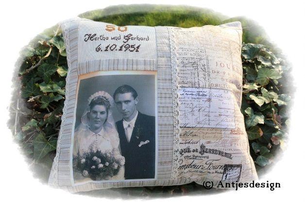 Photo - Kissen zur silber/gold/diamant Hochzeit