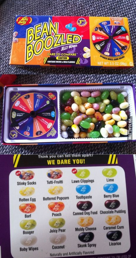 Oooh.. just Jelly Beans... Wait.. WHAT?!