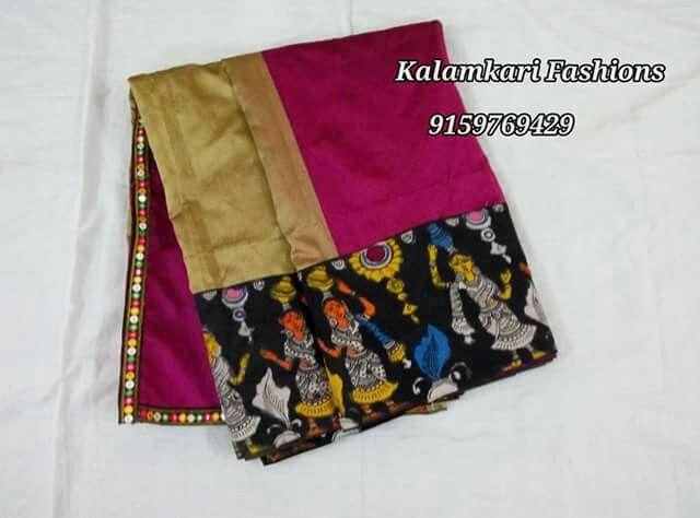 pen Kalamkari saree