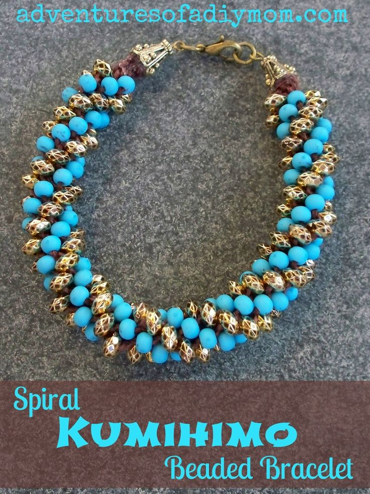 Adventures of a DIY Mom: Kumihimo Beaded Bracelets Tutorial