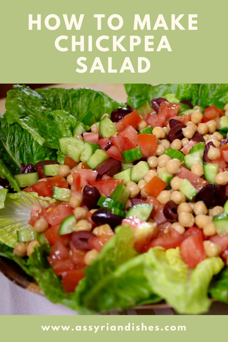 Learn How to make Chickpea Salad with Assyrian Dishes!