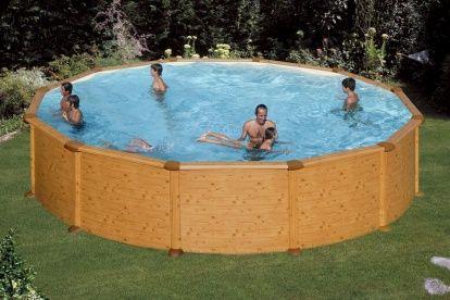 Bazén GRE Mauritius, bazén s dekorem dřeva, wood decor pool