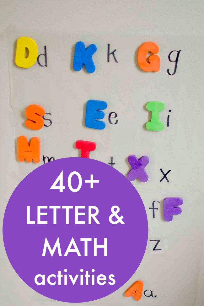 Letter and math activities for children with a  focus on fun, play-based learning. Alphabet activities, learning letters, number activities,shape activities