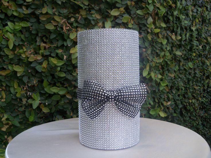 wedding Centerpieces with bling  | Bling Wedding Decor: Centerpieces | Wedding Style: Elegant
