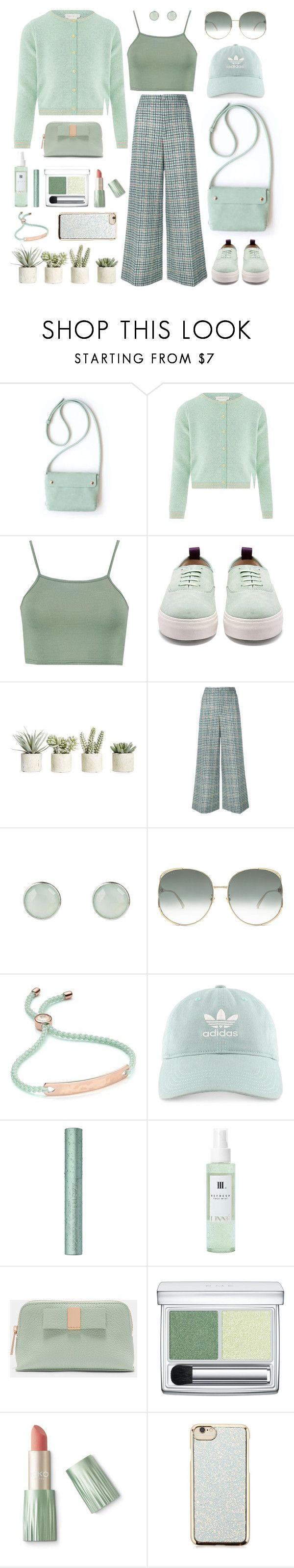 """All about Mint Colour"" by orrinn ❤ liked on Polyvore featuring Monsoon, Boohoo, Eytys, Allstate Floral, Isabel Marant, Gucci, Monica Vinader, adidas, Linne and Ted Baker"