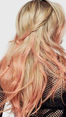 coloration semi-permanente l'oréal peach hair PE 2017