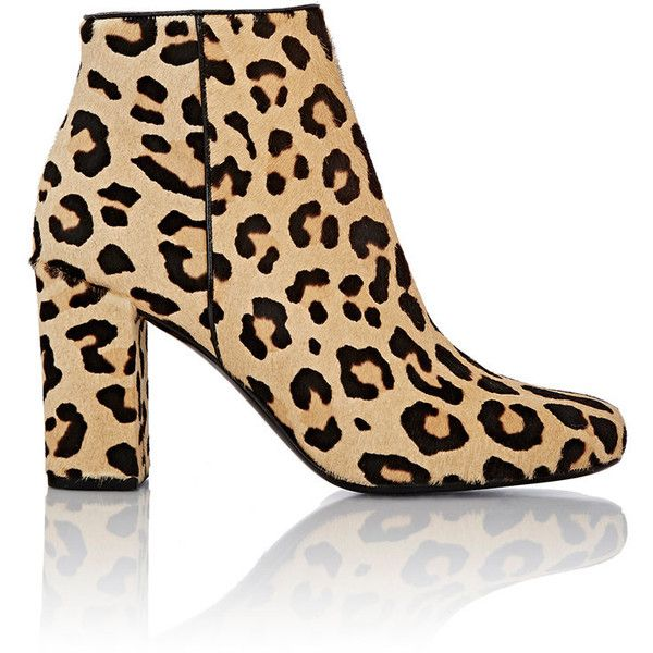 Saint Laurent Leopard-Print Babies Ankle Boots (64,885 PHP) ❤ liked on Polyvore featuring shoes, boots, ankle booties, ankle boots, brown, leather bootie, leather boots, chukka boots, high heel boots and leopard print booties