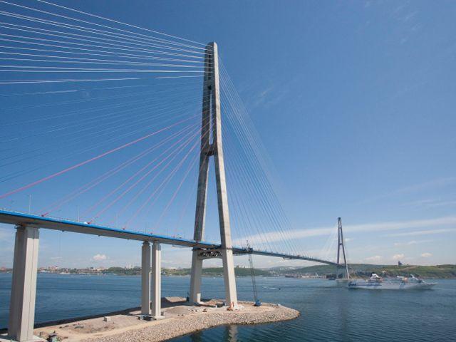Longest Bridge in United States   Russky Bridge, Longest Cable Bridges Photo