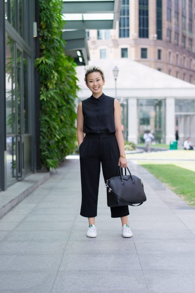SHENTONISTA: A Path Less Trekked. Judy, Accounts Manager. Top and Pants from Uniqlo, Shoes from Adidas, Watch from Nixon, Bag from Givenchy. #shentonista #theuniform #singapore #fashion #streetystyle #style #ootd #sgootd #ootdsg #wiwt #popular #people #male #female #womenswear #menswear #sgstyle #cbd #Uniqlo #Adidas #Nixon #Givenchy