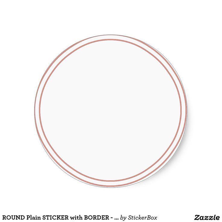 ROUND Plain STICKER with BORDER - Greetings Lables