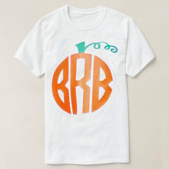 Monogrammed Pumpkin Halloween Custom Shirts