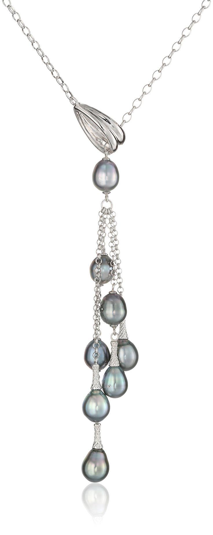 AmazonSmile: TARA Pearls Sterling Silver Natural Color Tahitian Pearl Necklace: Clothing