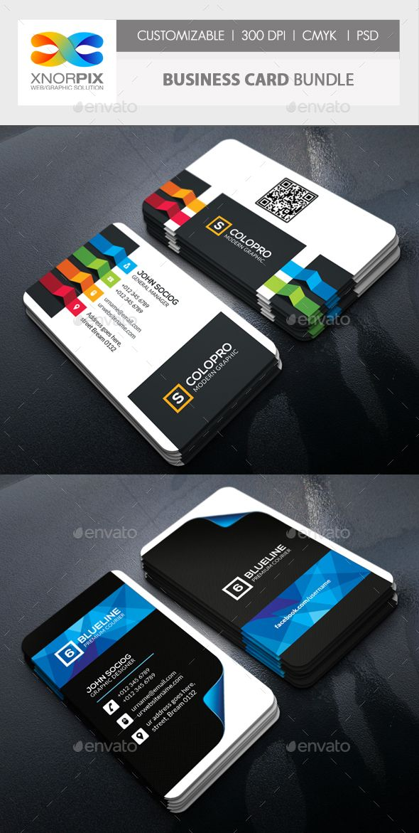 #Business Card #Bundle - Corporate Business #Cards Download here: graphicriver.n...