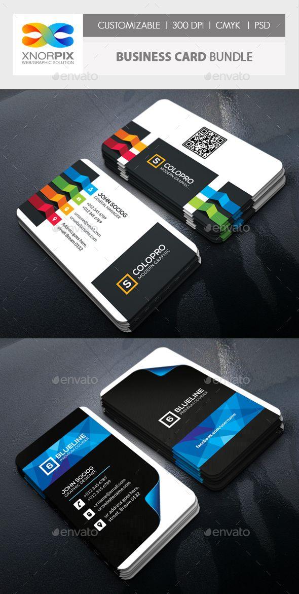 Business Card Design Template Bundle - Corporate Business Card Template PSD. Download here: https://graphicriver.net/item/business-card-bundle/17912800?ref=yinkira