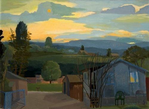 """Contemporary Painting - """"Taos Night"""" (Original Art from Celia Reisman)"""