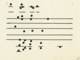 Excerpt from John Cage, Atlas Eclipticalis.