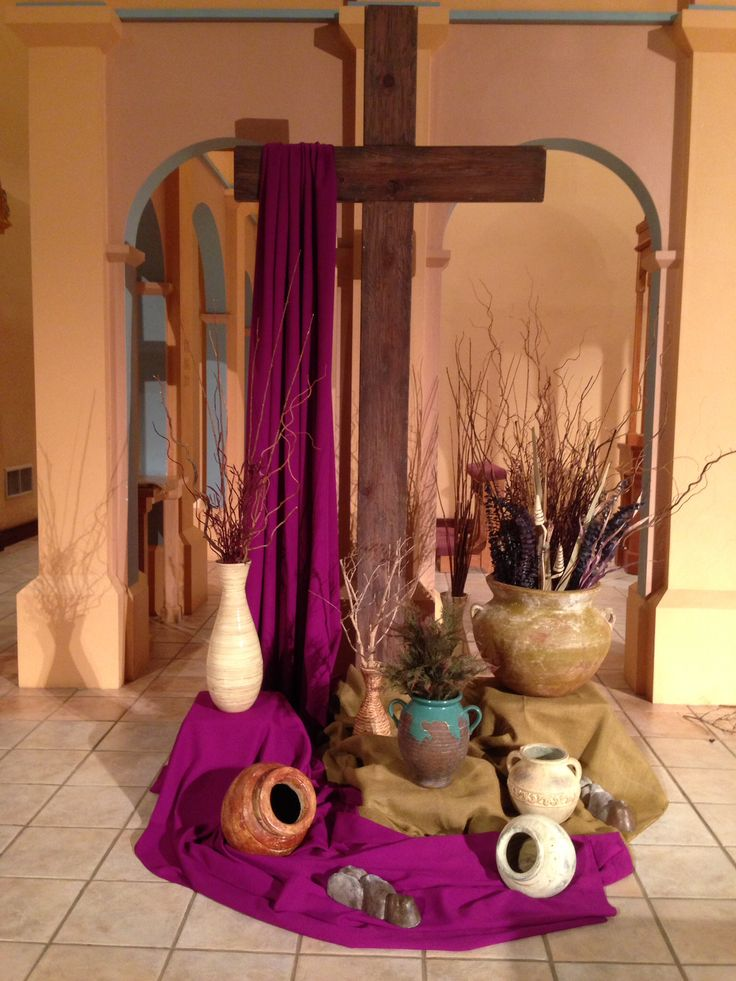 How to decorate catholic church for lent autos post for Lent decorations for home