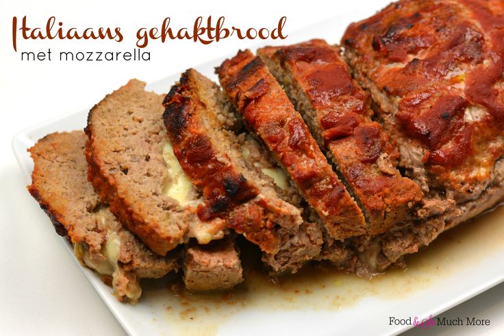 Italiaans gehaktbrood gevuld met mozzarella // Food & So Much More