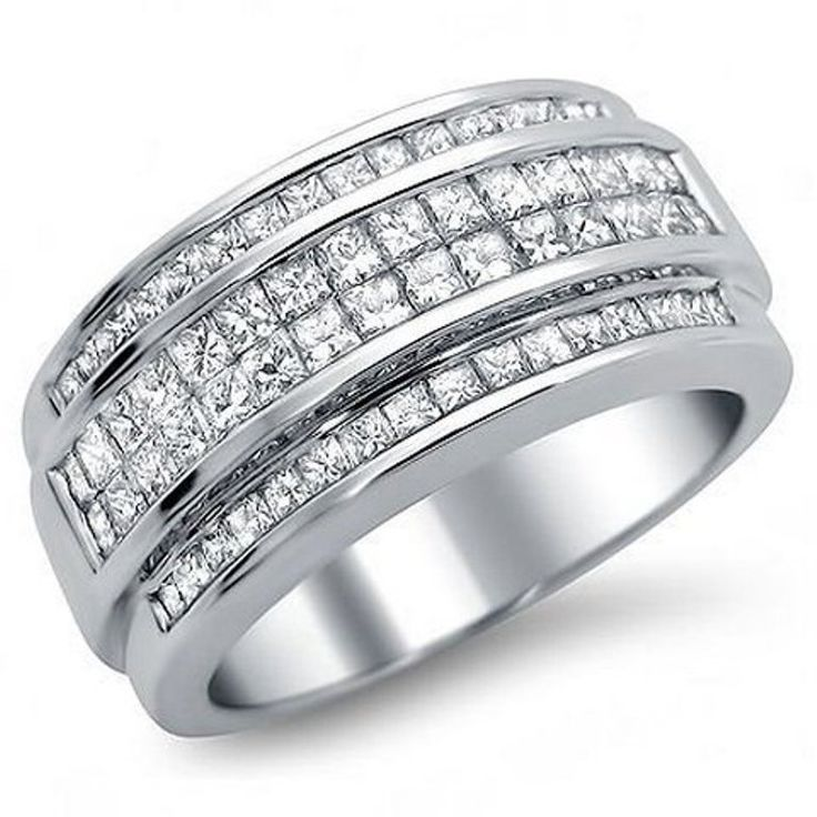 0.72ct Channel-Set Diamond Band Wedding Mens Ring
