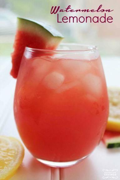 Watermelon Lemonade Recipe! Summer drink recipe for a refreshing treat! Love this kid-friendly recipe!