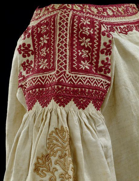 Andalusia, Spain (made) 1800-1900 Linen, embroidered with silk and linen