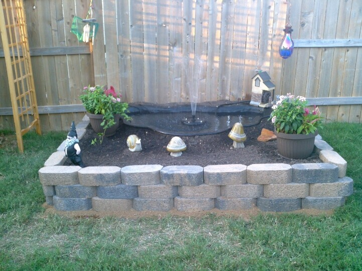 Above ground diy pond completed projects pinterest for Above ground fish pond ideas