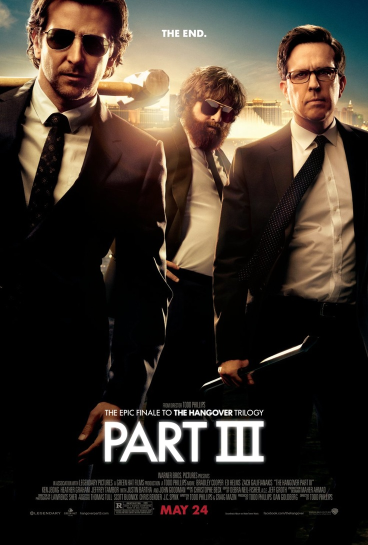 The Hangover 3.  Good but not as good the first one.