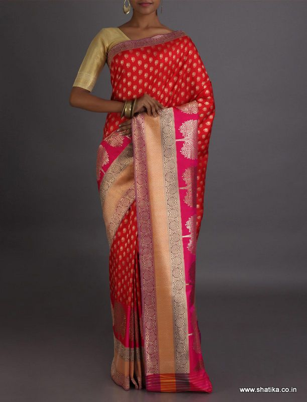Sara Ravishing Kalpataru Real Zari Brocade #BanarasiSilkSaree