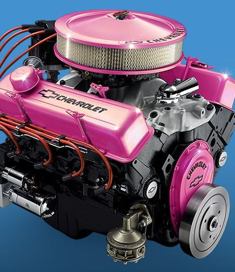 Pink engine, finally something for a true ladies classic restoration.