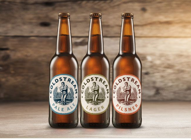 This is Coldstream beer label design, and the illustration represents the brand name properly. The guy