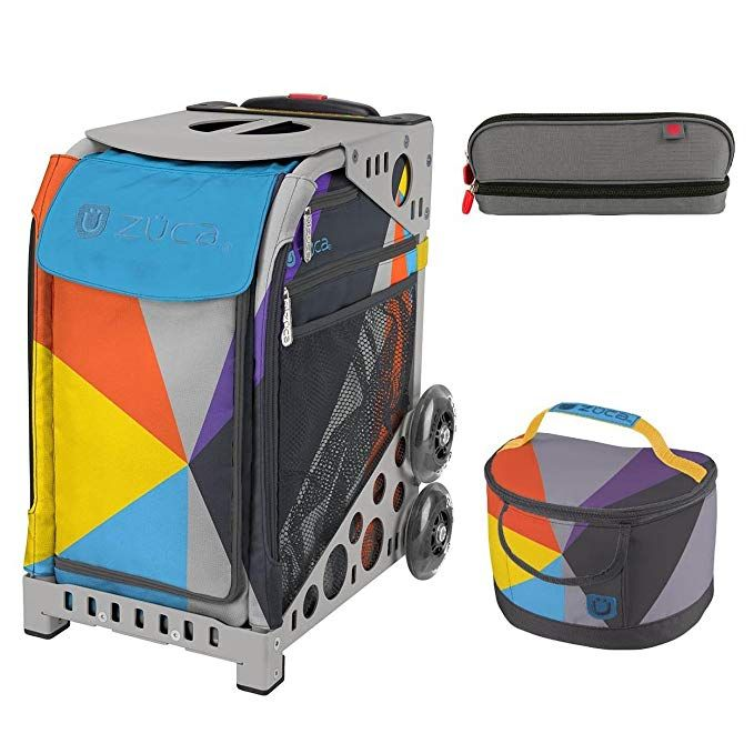 Gray Frame Zuca Sport Bag Chevron with GIFT Lunchbox and Seat Cover