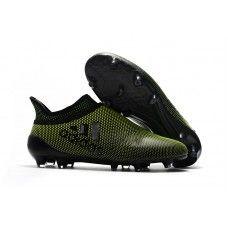 Billig Adidas X 17 Purechaos FG Fotballsko Dark Grunn Svart