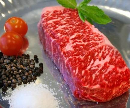 Wagyu Beef NY Strip Steak. American Kobe Beef NY Strip Steak.  We offer American and Japanese A1 Kobe Beef.  Call 704.910.2048 for pricing and availability.