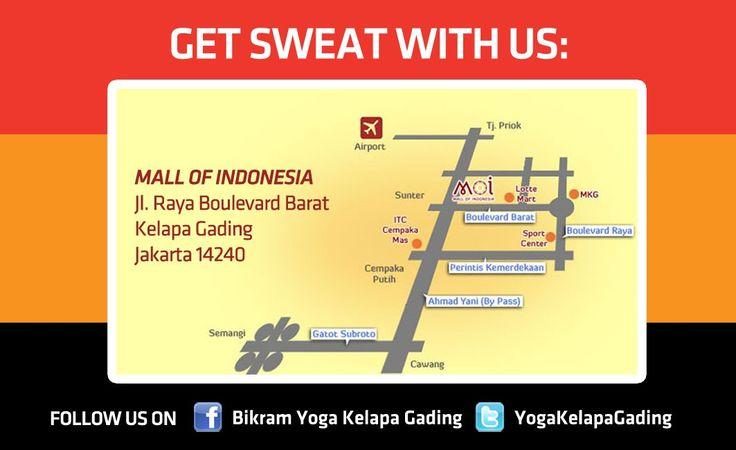 bikram yoga kelapa gading. mall of indonesia 2nd floor.