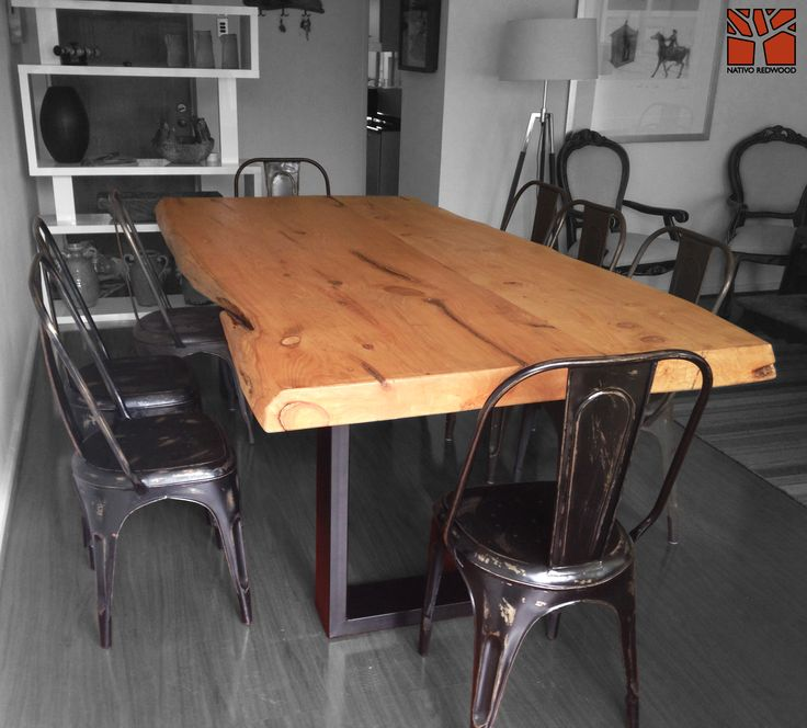 Nativo Redwood. Mesa Comedor Con Cubierta De Madera De Cipres 1.20x2.40x4u0027