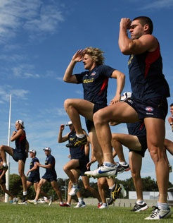 Rory Sloane and Tim McIntyre at training, another pic from Ray Titus