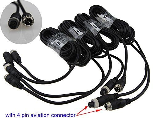 Auto Rover 5M 4Pin Aviation Connector Video Audio Extend Cables for Car Vehicle Backup Camera /DVR 4Pcs. For product info go to:  https://www.caraccessoriesonlinemarket.com/auto-rover-5m-4pin-aviation-connector-video-audio-extend-cables-for-car-vehicle-backup-camera-dvr-4pcs/