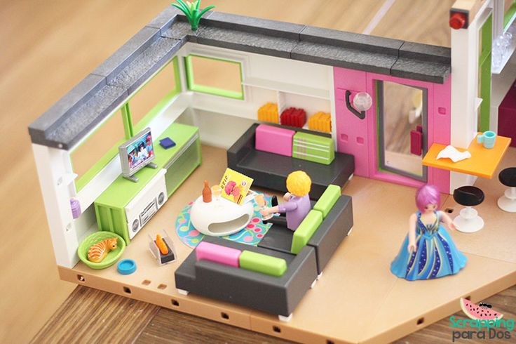 Best 25 salon playmobil ideas on pinterest la maison for Playmobil casa de lujo