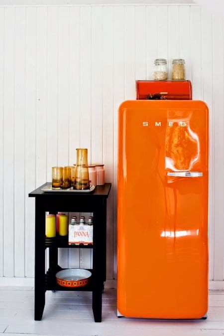 My Home Aesthetic Sense Is Modern And Minimalist But I Do Love A Little Infusion Of Color These Refrigerators From Smeg Though Vintage Looking