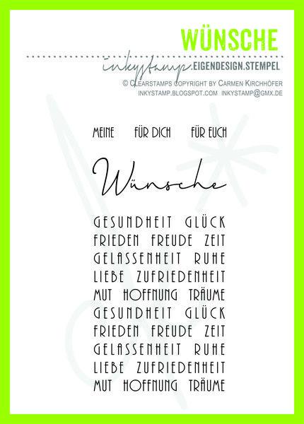 Stempel & Stempelkissen - Wünsche - Stempel Set NEU - ein Designerstück von inkystamp bei DaWanda