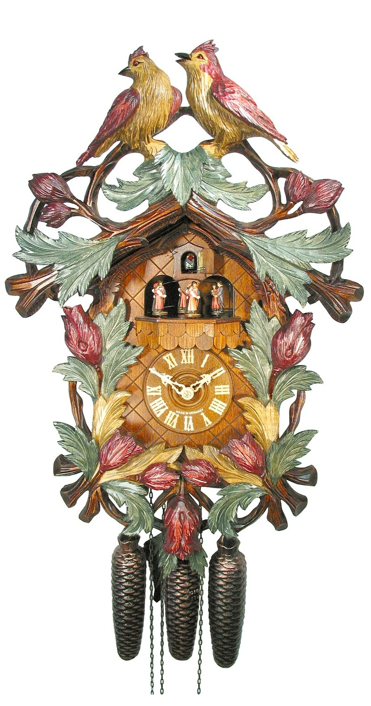 Cuckoo Clock ~ Bird Couple in the Garden
