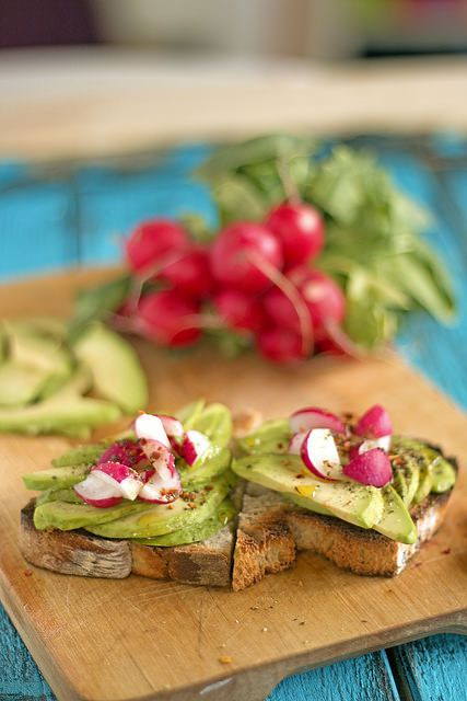 Avocado Toast Time - Served with radishes and chili flakes