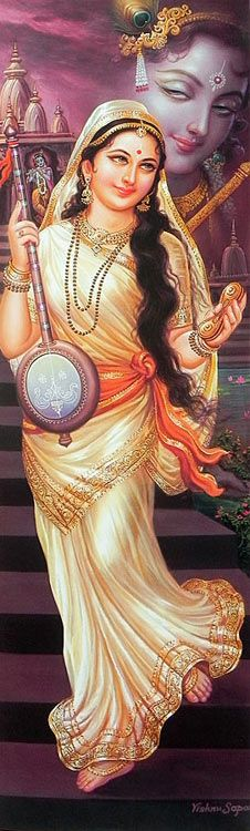 Mirabai who love KRISHNA with all her heart